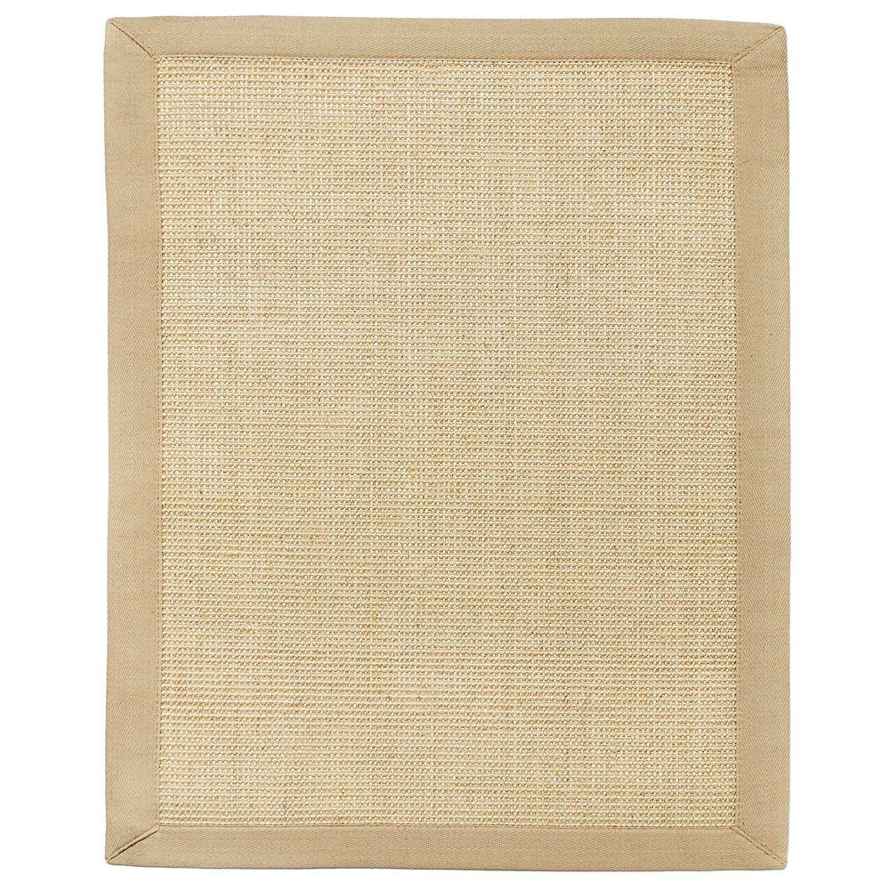 Anji Mountain Sandpiper Brown Sisal 3 ft. x 5 ft. Area Rug