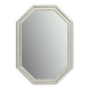 33 in. W x 46 in. H (L3) Framed Octagon Standard Glass Bathroom Vanity Mirror in Vintage Nickel