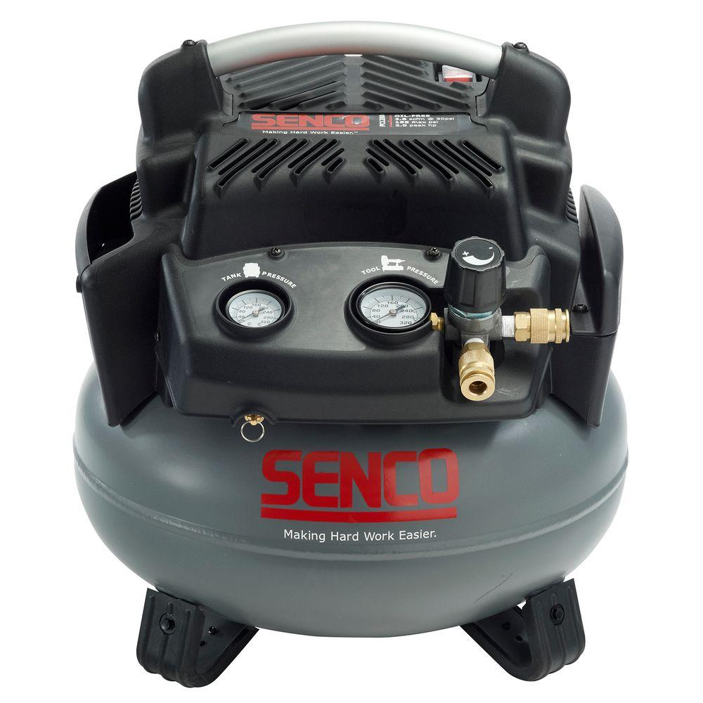 senco 6 gal 1 5 hp pancake electric air compressor pc1280. Black Bedroom Furniture Sets. Home Design Ideas