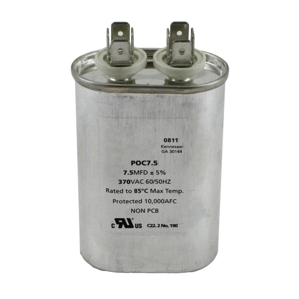 Packard 370 Volts Motor Run Capacitor Oval 7.5MFD-DISCONTINUED