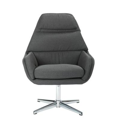 Guest Klein Charcoal Chair with Chrome Base