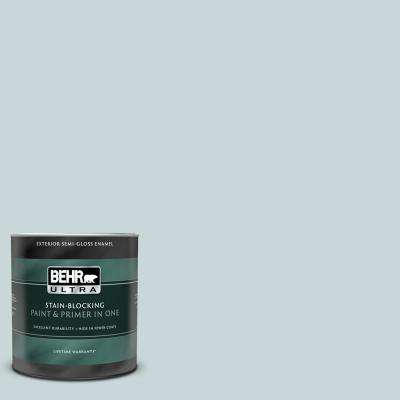 1 qt. #PPU13-16 Offshore Mist Semi-Gloss Enamel Exterior Paint and Primer in One