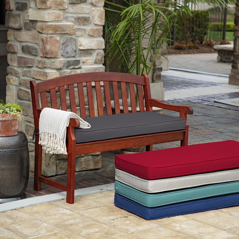 ProFoam Slate Acrylic Rectangle Outdoor Bench Cushion