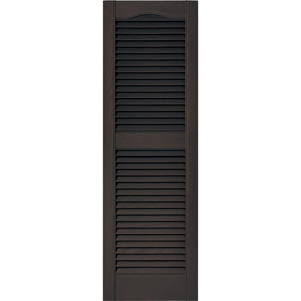 Open louvered vinyl exterior shutters pair set 010 musket - Paintable louvered vinyl exterior shutters ...