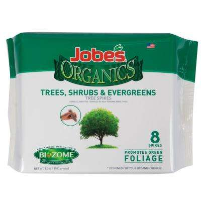 1.76 lb. Organics Tree, Shrub and Evergreen Fertilizer Spikes with Biozome, OMRI Listed (8-Pack)