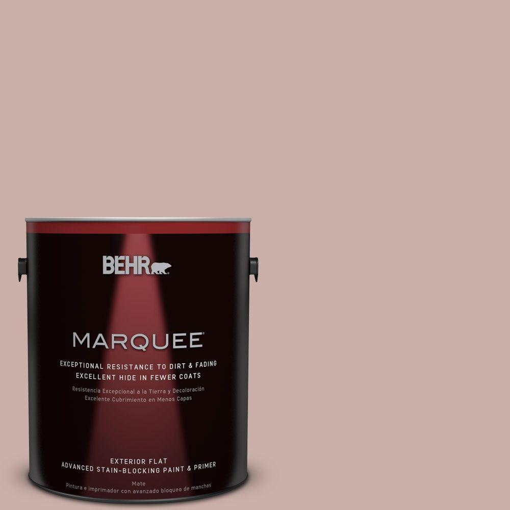 1 gal. #HDC-CT-07A Vintage Tea Rose Exterior Flat Paint
