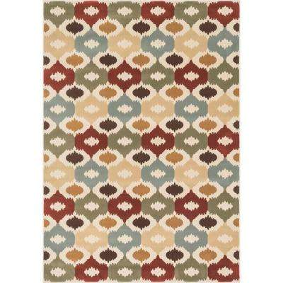 Shelton Lifestyle Collection Multi 3 ft. 10 in. x 5 ft. 7 in. Area Rug