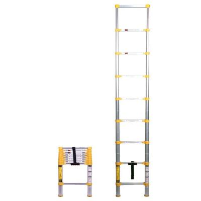 8.5 ft. Aluminum Telescoping Extension Ladder with 250 lbs. Load Capacity Type 1 Duty Rating