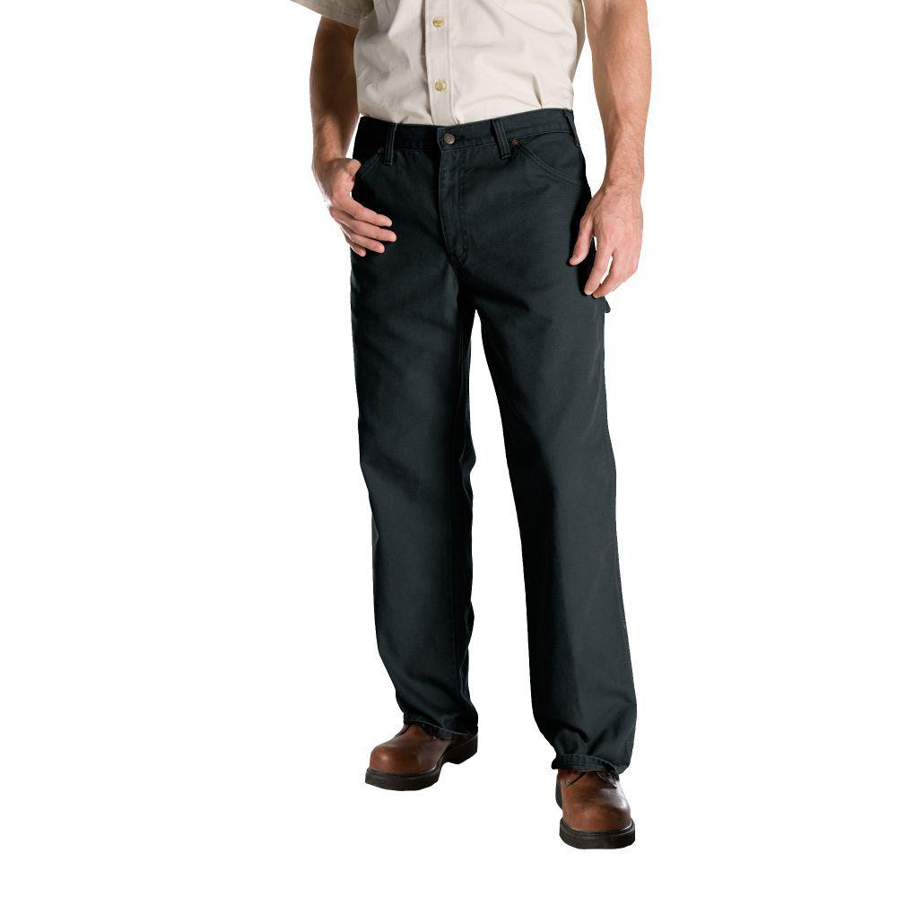 dickies relaxed fit 42 in x 30 in duck dungaree jean slate ed218ssl 42 30 the home depot. Black Bedroom Furniture Sets. Home Design Ideas