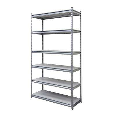 18 in. x 48 in. x 86 in. Silver Laminate Shelf 6-Tier Garage Shelving Unit