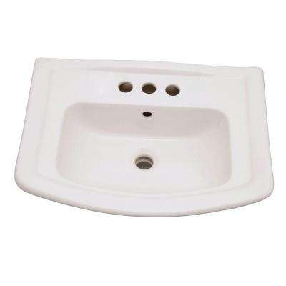 Washington 6 in. Pedestal Sink Basin Only in White