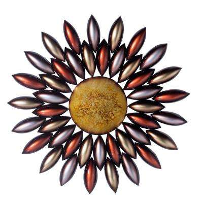 Wade Multi-Colored Modernized Iron Flowers Patterned Wall Decor with Screw-Hangers
