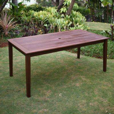 Wales Rectangular Wood Outdoor Dining Table