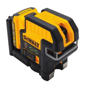 Dewalt 12-Volt MAX Lithium-Ion 2-Spot Cross-line Green Laser Level with Battery 2Ah, Charger and TSTAK Case by DEWALT