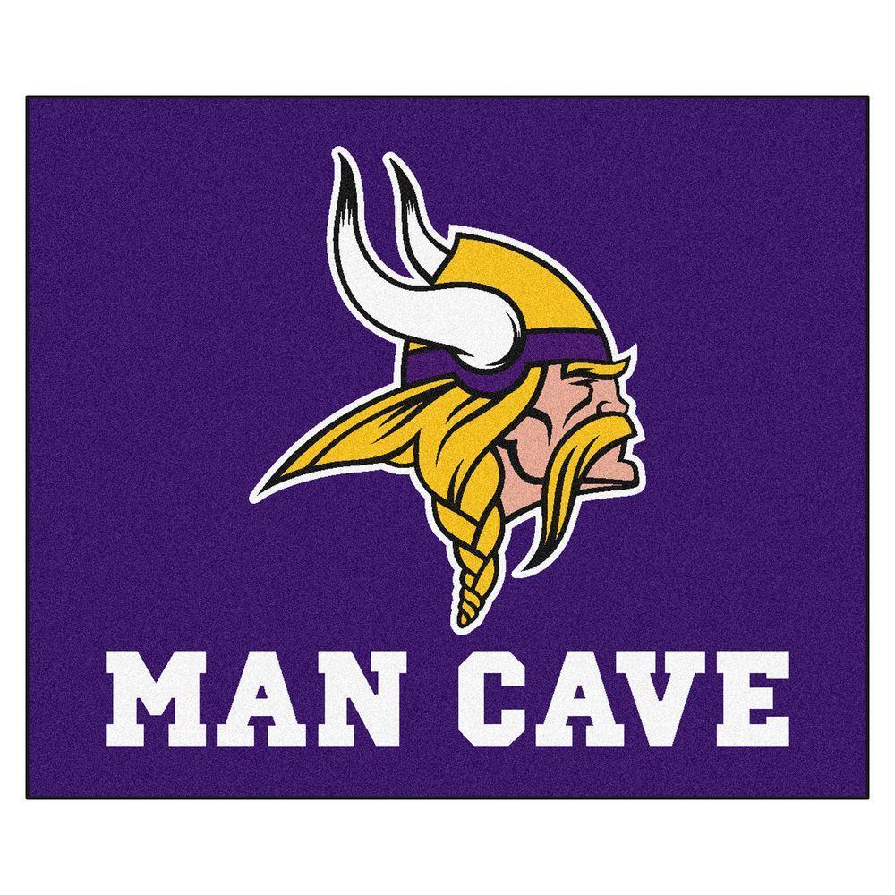 Minnesota Vikings Purple Man Cave 5 ft. x 6 ft. Area Rug