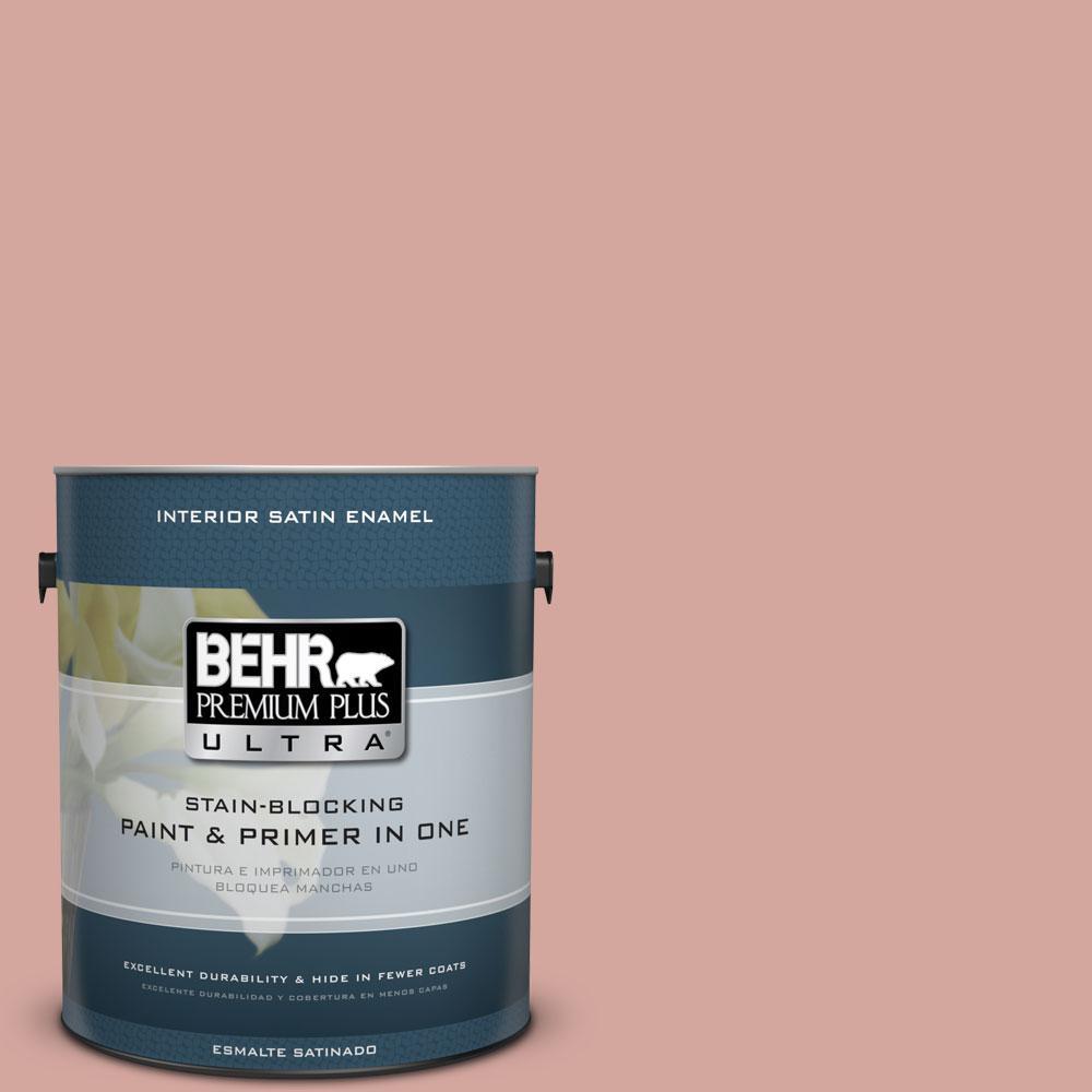 1 gal. #200E-3 Cinnamon Cocoa Satin Enamel Interior Paint and Primer