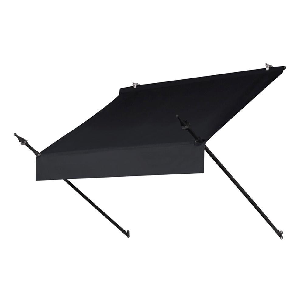 4 ft. Designer Manually Retractable Awning (36.5 in. Projection) in Ebony