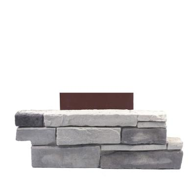 18 in. x 6 in. Ledge Stone Colorado Gray Stone Veneer Siding (Pillar Stone)