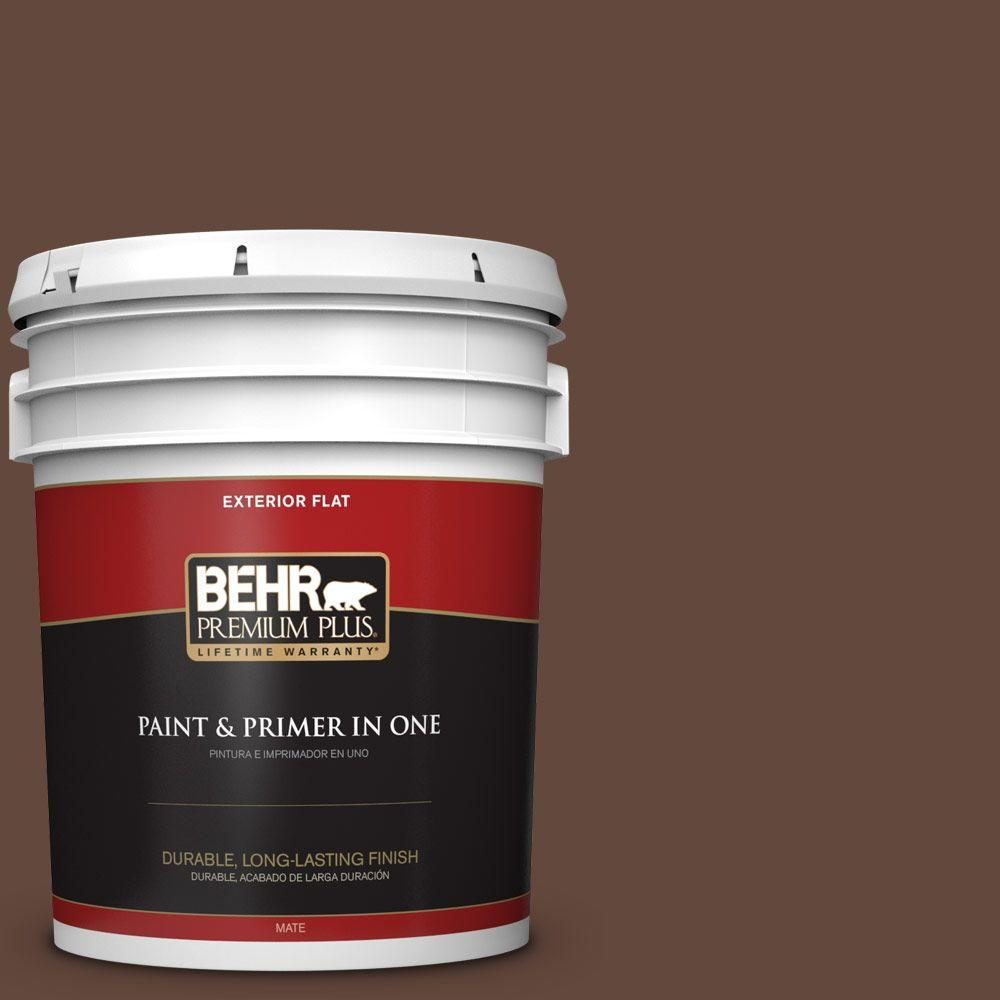 BEHR Premium Plus 5-gal. #770B-7 Chocolate Sparkle Flat Exterior Paint