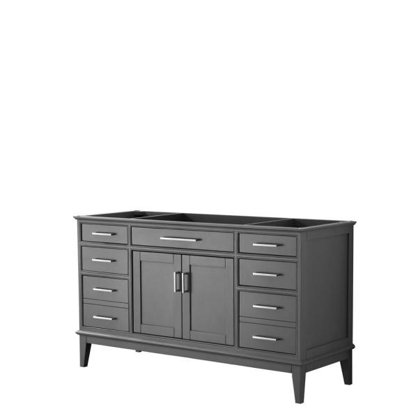 Margate 59 in. W x 21.5 in. D Bath Vanity Cabinet Only in Dark Gray