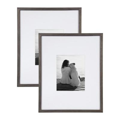 Gallery 16x20 matted to 8x10 Gray Picture Frame Set of 2