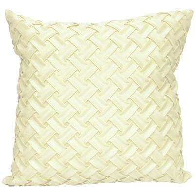 Lattice Ivory Decorative Pillow