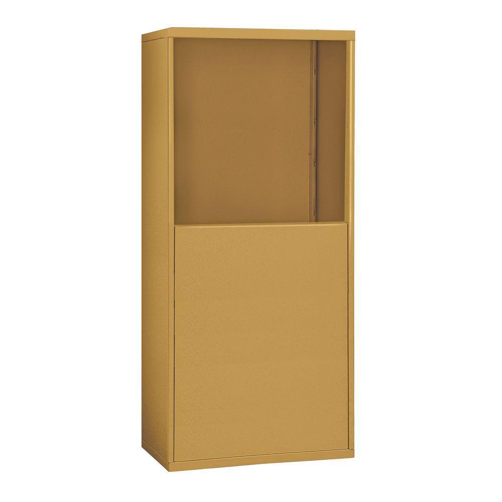19900 Series 37 in. W x 61 in. H x 9.25 in. D for 19058-25 R-Mounted Cell Phone Enclosure in Gold,  Brown