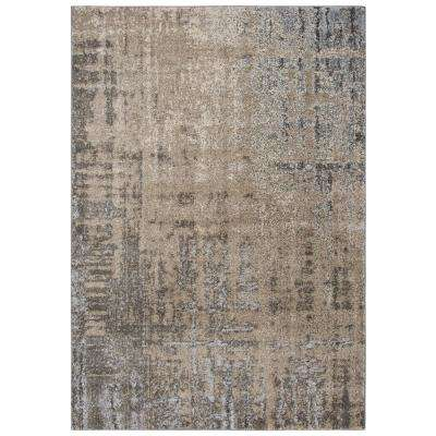 Venice Beige/Brown 8 ft. 10 in. x 11 ft. 10 in. Abstract Area Rug
