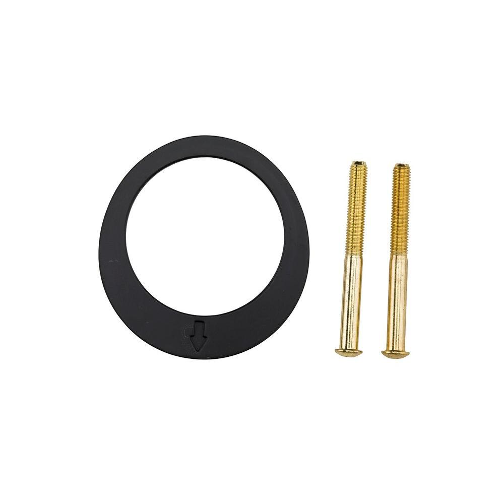 1-3/8 in. Polished Brass Key Control Thin Door Adapter Kit