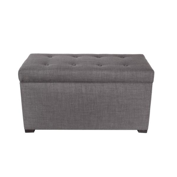 MJL Furniture Designs Angela HJM100 Gray/Red Tint Button Tufted Upholstered