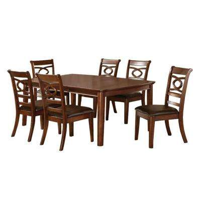 Carlton 7-Piece Warm Cherry Dining Set