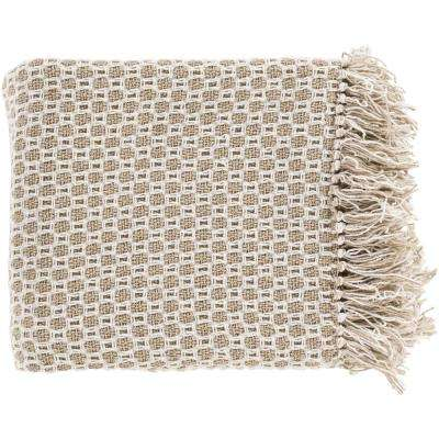 Victor Olive Cotton Throw