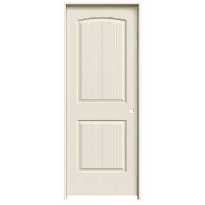 30 in. x 80 in. Santa Fe Primed Left-Hand Smooth Solid Core Molded Composite MDF Single Prehung Interior Door