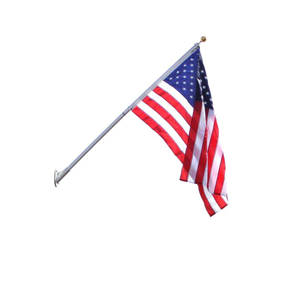 4 ft. x 6 ft. Nyl-Glo Nylon US Flag and 8