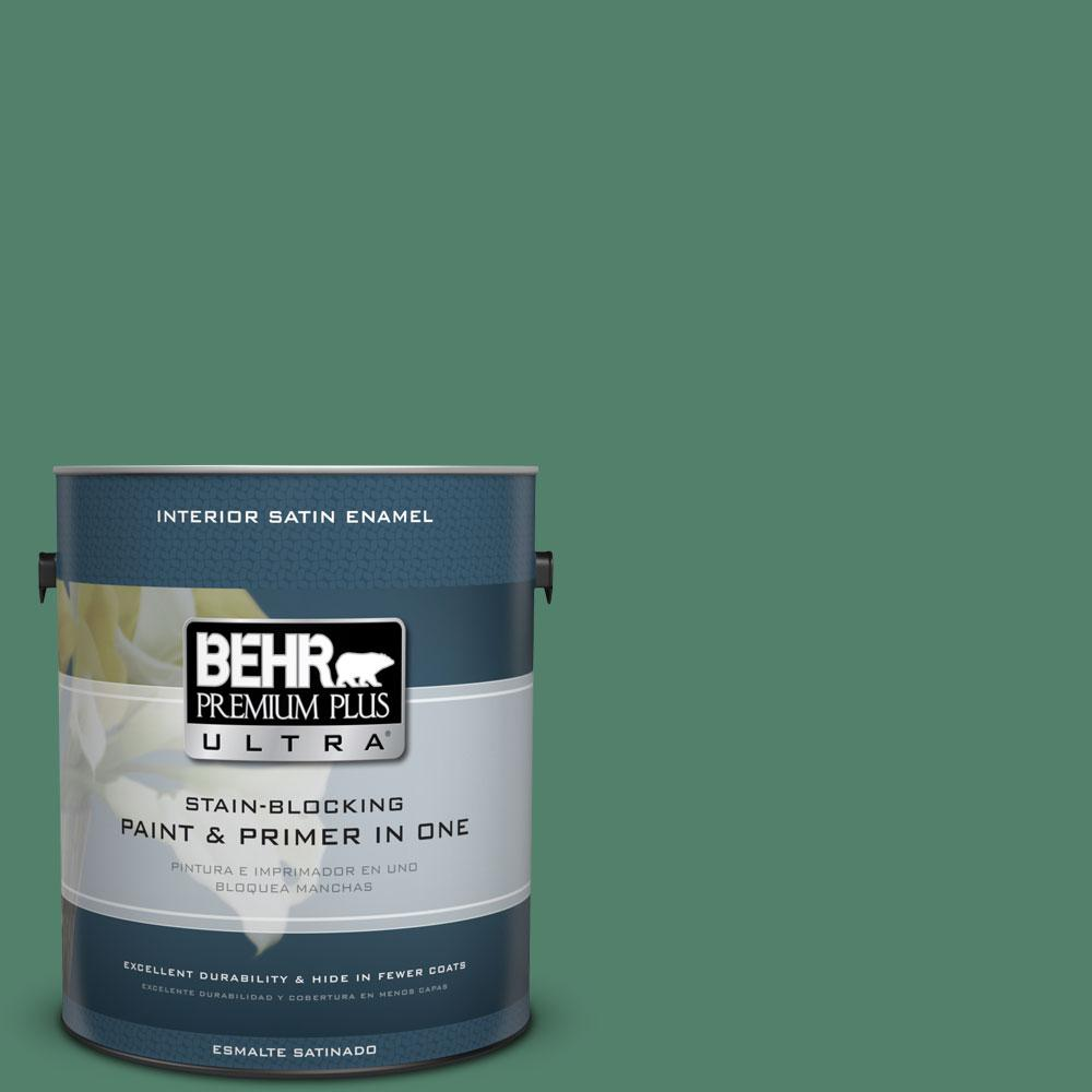 BEHR Premium Plus Ultra 1-gal. #M430-6 Park Bench Satin Enamel Interior Paint