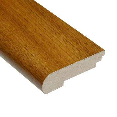 Teak Natural 3/8 in. Thick x 3-1/2 in. Wide x 78 in. Length Stair Nose Molding