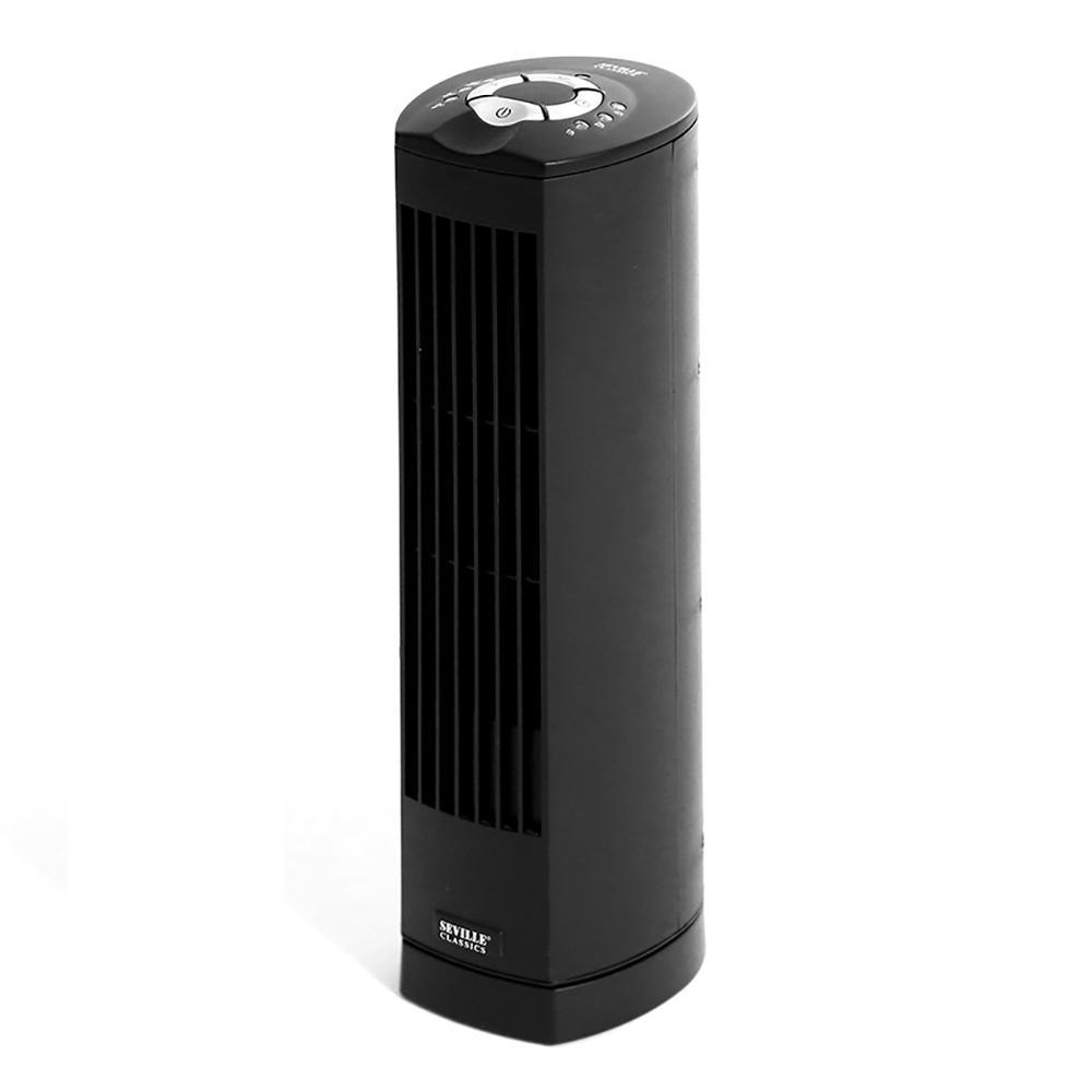 Black UltraSlimline 17 in. Oscillating Personal Tower Fan
