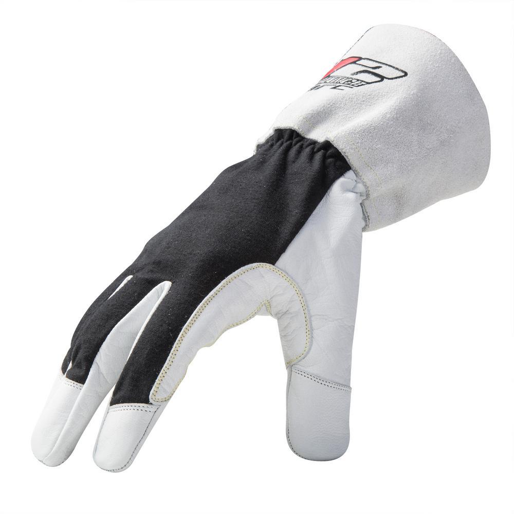 Large White/Black ARC Economy TIG Welding Gloves