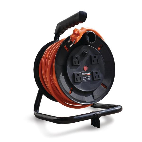 50 ft. Cord Reel with 4 Outlets