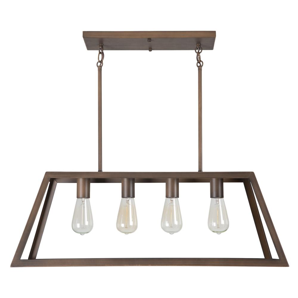 Yosemite Home Decor Skyline Ridge Collection 4-Light Oil Rubbed ...