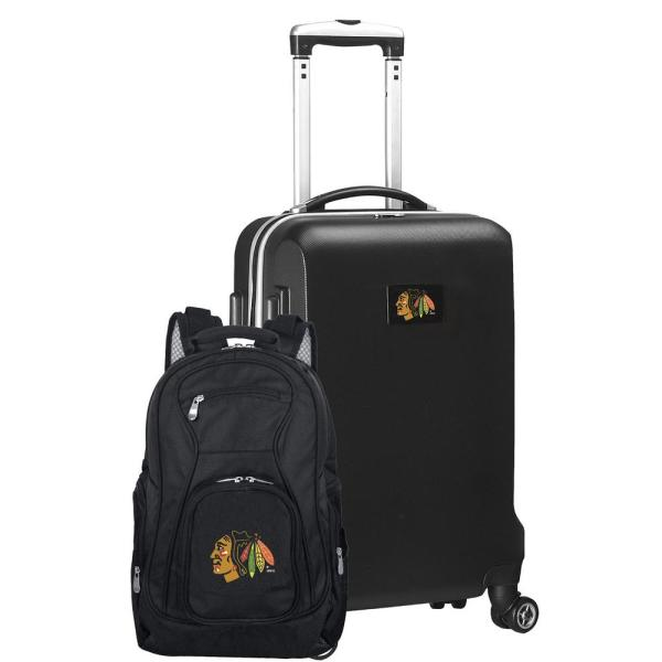 Chicago Blackhawks Deluxe 2-Piece Backpack and Carry on Set