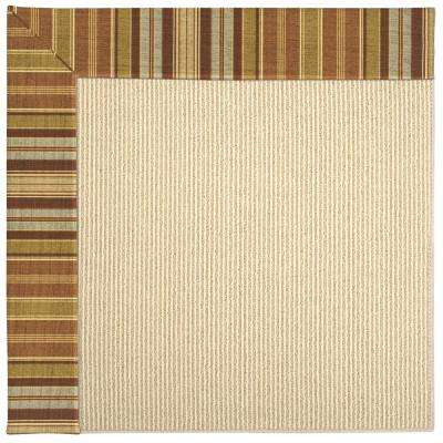 Zoe Beach Sisal Button Mushroom 6 ft. x 6 ft. Area Rug