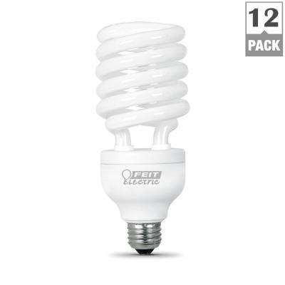 150W Equivalent Soft White Spiral CFL Light Bulb (12-Pack)