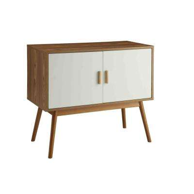 Olso White and Natural Storage Console Table