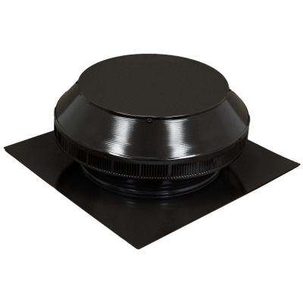 12 in. Dia Aluminum Roof Louver Exhaust Vent in Black Powder Coat