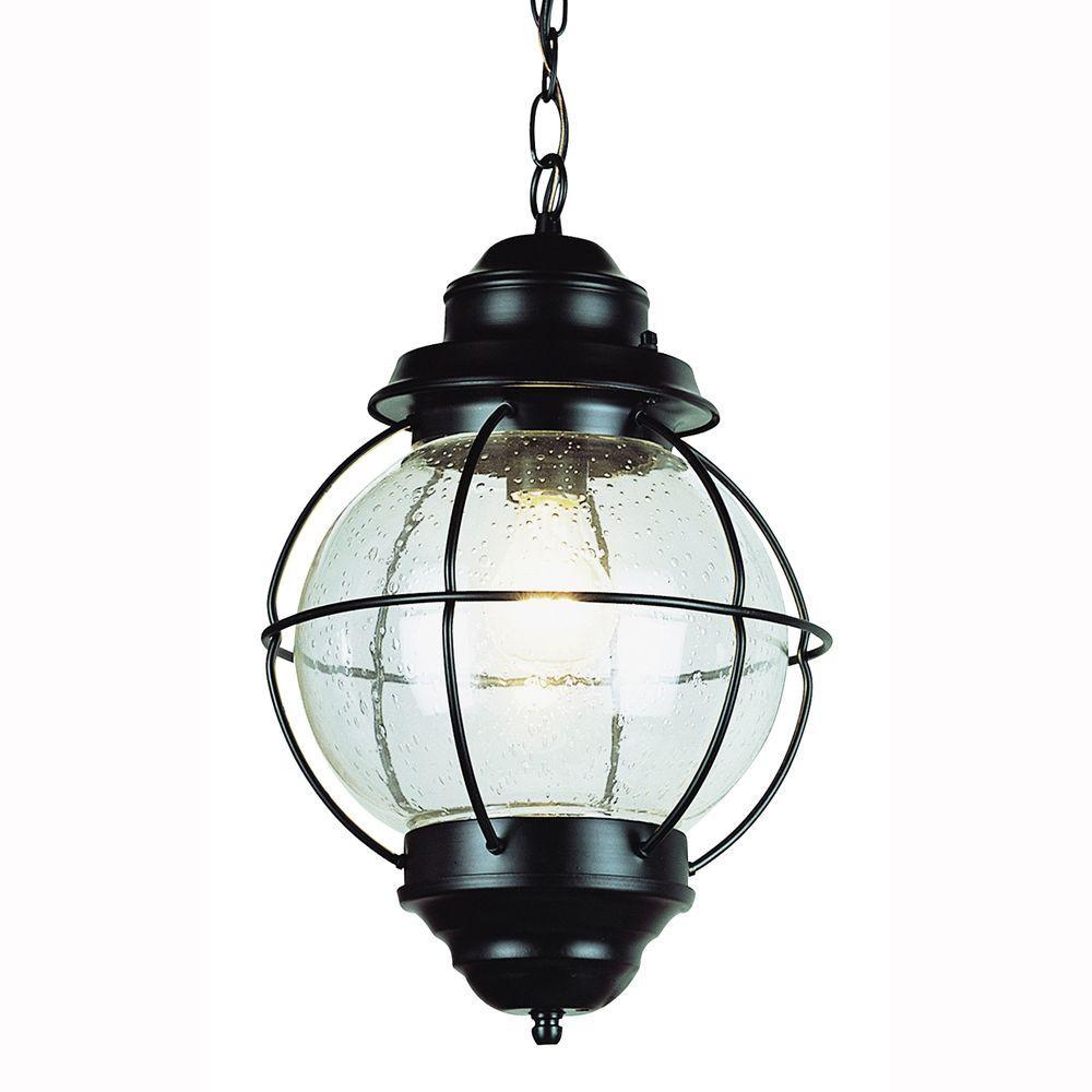 Bel Air Lighting Lighthouse 1-Light Outdoor Hanging Black ...