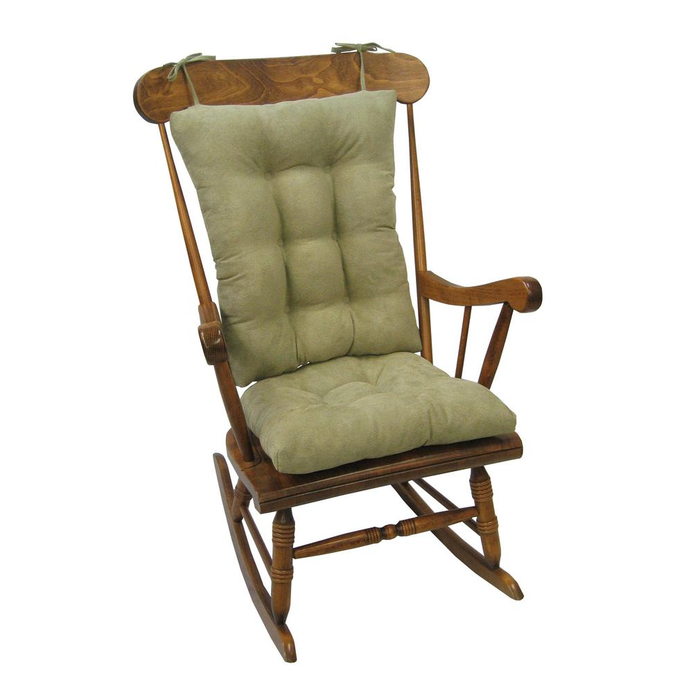 Merveilleux Klear Vu Gripper Twillo Thyme Jumbo Rocking Chair Cushion Set