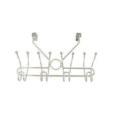 4 Prong double Robe Hook in Satin Nickel (Over the Door Hook)