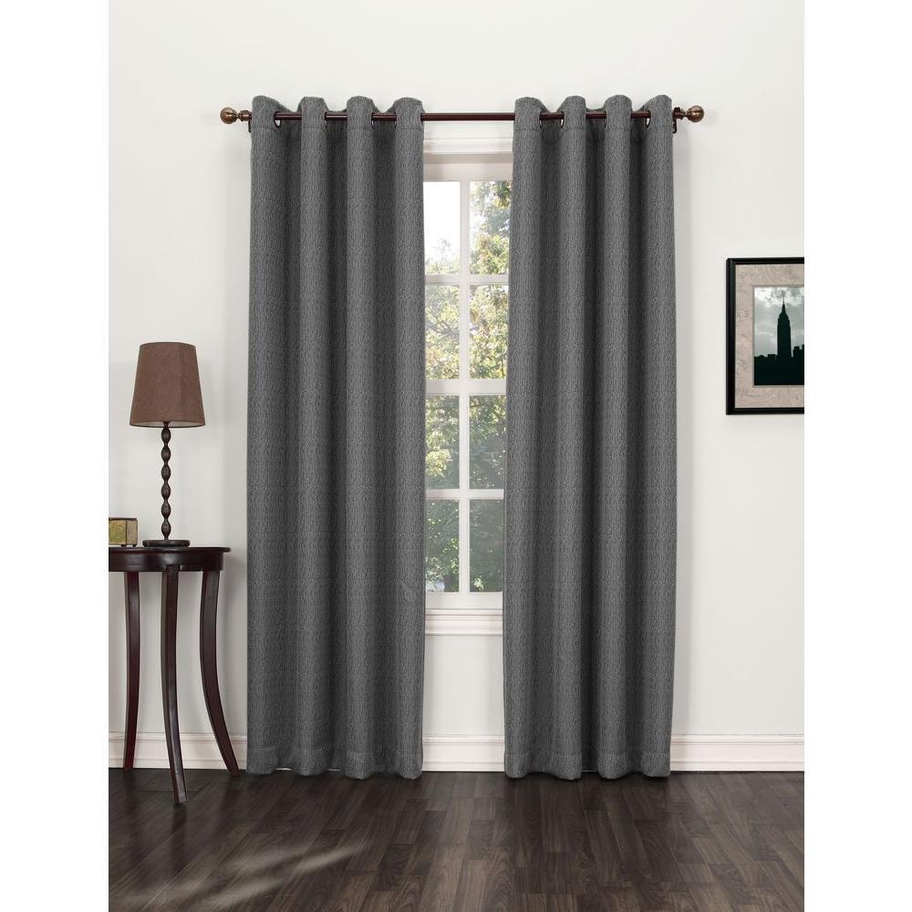 Sun Zero Blackout Marshfield Steel Blackout Grommet Curtain Panel (Price Varies by Size)