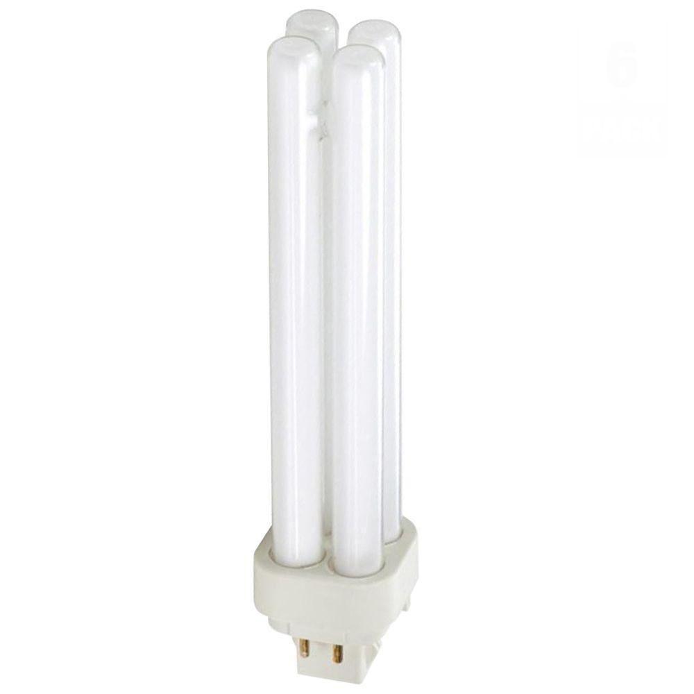 Philips 26-Watt Soft White (2700K) PL-C 4-Pin (G24q-2) Energy Saver Compact Fluorescent (non-integrated) Light Bulb (6-pack)